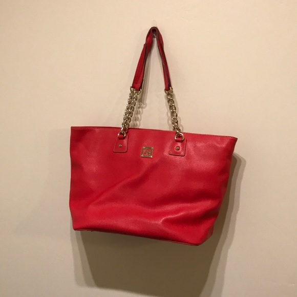 Dooney & Bourke Handbags - Amazing red Dooney and Bourke tote great for work